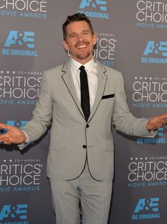 Pin for Later: The Big Screen's Hottest Stars Are at the Critics' Choice Movie Awards! Celebrity Crush, Celebrity Style, Ethan Hawke, First Crush, Critics Choice, Star Wars, Choice Awards, Celebs, Celebrities