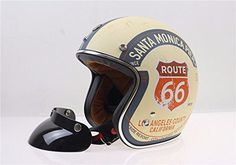 TORC Open Face 3/4 Route 66 Motorcycle Helmet