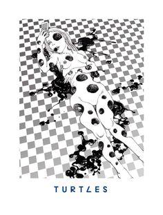 by Shintaro Kago Creepy Art, Weird Art, Lotus Artwork, Japanese Illustration, Dark Anime, Illustrations And Posters, Horror Art, Yandere, Anime Style