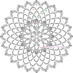 Wonderful Crochet a Solid Granny Square Ideas That You Would Love Free Crochet Doily Patterns, Crochet Circles, Crochet Motifs, Crochet Diagram, Crochet Chart, Crochet Doilies, Crochet Flowers, Crochet Stitches, Knit Crochet