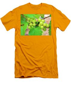 Grape Men's T-Shirt (Athletic Fit) featuring the photograph Grapes by Cynthia Guinn