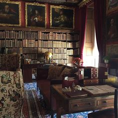 The library at Kingston Lacy, remodelled in the 1780s #kingstonlacy #nationaltrust