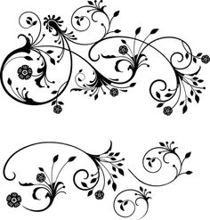 Gothic Flourish Royalty Free Stock Vector Art Illustration