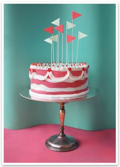 Cake flags and messy stripes