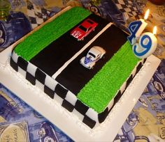Drag Racing Cake I D Want The Tree To Be On There Too Birthday