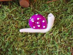 Fairy garden snail on stem gnome pixie fairy garden accessories. $3.00, via Etsy.