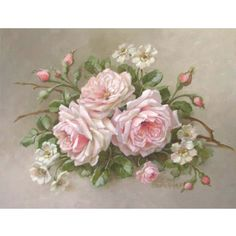 Christie Repasy La Belle Roses Canvas Giclee in Pink