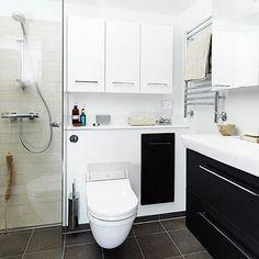 Mindre bad med plads til det hele, Badeværelse inspiration, badeværelse indretning, bathroom inspiration