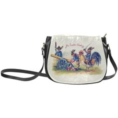 Easter Bunny War Funny Vintage Classic Saddle Bag/Small (Model 1648)