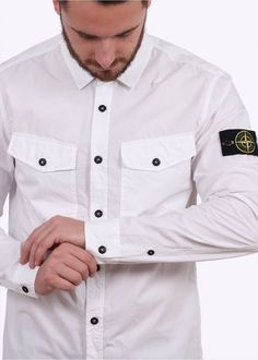 Stone Island LS Shirt - White