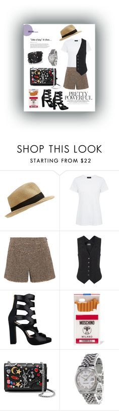 """""""Just for fun"""" by akalinin ❤ liked on Polyvore featuring Theory, Chloé, Temperley London, Kat Maconie, Moschino, Yves Saint Laurent, Rolex and Sif Jakobs Jewellery"""