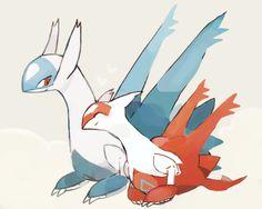 Latias & Latios Pokemon Fan Art, Cute Pokemon, Pokemon Go, Pokemon Stuff, Random Pokemon, Pokemon Latias, Latios And Latias, Pokemon Images, Pokemon Pictures