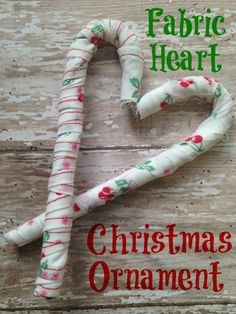 DIY Ornament Ideas by Reesa from Momma Lew! Christmas Fabric, Diy Christmas Ornaments, Fabric Ornaments, Glass Ornaments, Scrap Fabric, Fabric Scraps, Candy Cane Ornament, Holiday Tree, Holiday Crafts