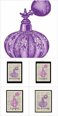 Retro Perfume Dictionary Art