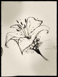 Flower tattoo sketch