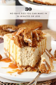 30 No-Bake Pies You Can Make in 30 Minutes or Less via @PureWow