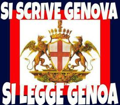 Liguria On écris Genova, On Lis Geona Genoa Football, Genoa Cfc, Club, Red, Genoa