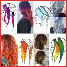 Hair Color Placement Diagrams Hair Color Placement Diagrams 157711 282 Best Tutorials Images On Pint Hair Color Placement, Kleidung Design, Hair Color Formulas, Hair Color Techniques, Painting Techniques, Fantasy Hair, Coloured Hair, Mermaid Hair, Hair Painting