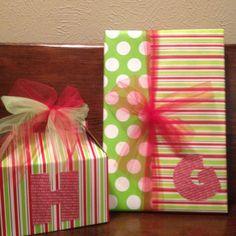 Christmas gift wrapping - adorable