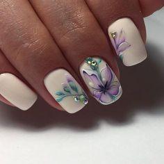 8 Very Pretty Floral Nails To Keep Your Nails Looking Pretty - Hashtag Nail Art Easter Nail Designs, Beautiful Nail Designs, Nail Art Designs, Stylish Nails, Trendy Nails, Cute Nails, Spring Nails, Summer Nails, Hair And Nails