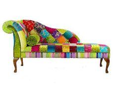 BESPOKE-Patchwork-Chaise-longue-Sedia-Divano-Designers-Guild-Fabric