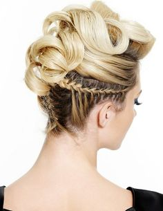Braided Curly Updo