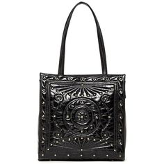 Hobo Margot Leather Tote ($135) ❤ liked on Polyvore featuring bags, handbags, tote bags, black, black handbags, zippered tote bag, leather tote, black leather tote bag and black tote
