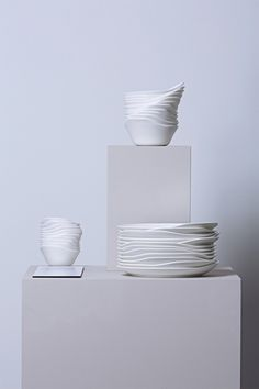 "<h3>Relax porcelain collection by Tamer Nakisci </h3><p></p>  The European Union named Turkish designer Naskisci ""one of Europe's 100 Young Creative Talents"".  He travels between London and Istanbul, where most of his projects are undertaken. The subtly undulating lines of his porcelain tableware create a more casual aesthetic true to the collection's name."