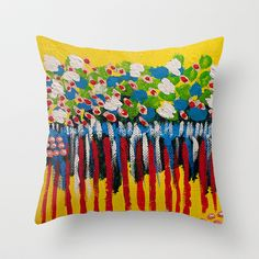 :: Ribboned Reflection :: Throw Pillow by GaleStorm Artworks - $20.00