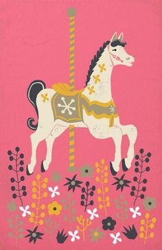 Carousel Art Print - Mary Poppins - Supercalifragilisticexpialidocious