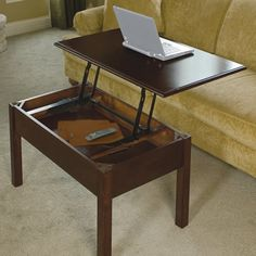 The Convertible Coffee Table - Hammacher Schlemmer