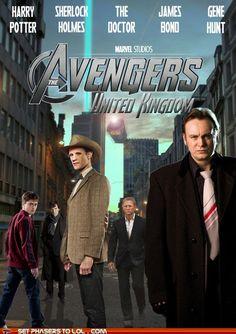 sci fi fantasy - The Avengers: United Kingdom
