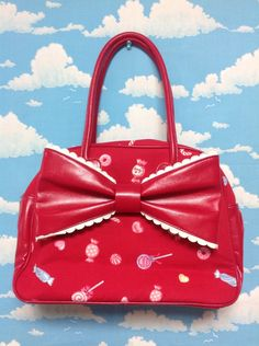 MIRACLE★CANDY Boston Bag in Red from Angelic Pretty - Lolita Desu