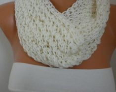 Brown Queen Anne's Lace Scarf Crochet Scarf Dark Coffee by anils