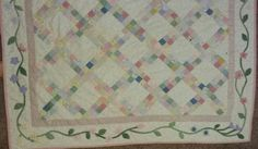 Madisons quilt with applique border