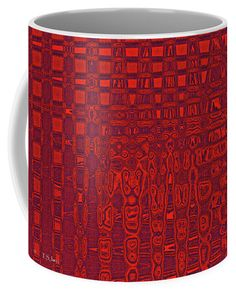 Red Rolls And Waves Coffee Mug by Tom Janca.  Small (11 oz.)