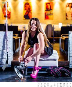 Sports Photography Brock University Womens Hockey Breast Cancer St. Catharines, Ontario www.rickdenham.com