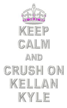 """""""Keep Calm and Crush on Kellan Kyle"""" Tee $25 to 27$ You can pick any shirt color & every font color    www.baileyboopersboutique.com under Embroidered Girl Phrase shirts"""