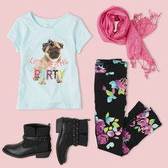 Back to School Outfit   Girls Fashion   The Children's Place   Find boots, jeggings, graphic tees, scarves and more at our PLACE!