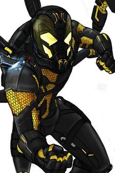Yellow Jacket by on DeviantArt Batwoman, Nightwing, Marvel Comics, Marvel E Dc, Marvel Heroes, Evil Villains, Marvel Villains, Marvel Characters, Young Avengers