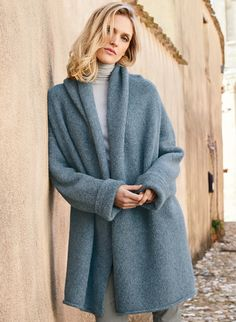 WOOL ALPACA knitted long sweater coat for women warm cardigan  with pockets maxi coat jacket with hood jumper black pink blue grey white