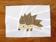 Hedgie -- Free paper-piecing pattern from Artisania... think he would be cute on the back of a quilt!