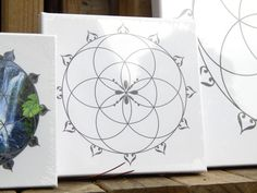 Seed of Life Crystal Grid on Canvas