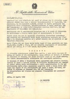 Italien - Ultimatum Prefetto (Untersuchungskommission) Udine
