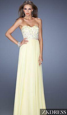 Pale Yellow Prom Dresses 2014