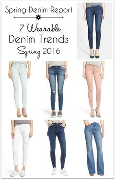 Spring Denim Report: 7 Wearable Spring Denim Trends 2016 I realize not everyone has a lifestyle conducive to wearing jeans daily, but even if you work in a professional office environment or wear workout clothes to the gym every day, you probably still have a few opportunities each week to wear jeans. Click through to get more tips and ideas for Fashion over 40! Jo Lynne Shane