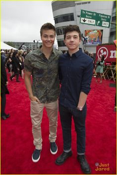 Peyton Meyer and Bradley Steven Perry at the Radio Disney Music Awards 2015