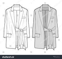 Outer Jacke fashion flat sketch template - Buy this stock vector and explore similar vectors at Adobe Stock Fashion Sketch Template, Fashion Design Template, Fashion Design Sketches, Flat Drawings, Flat Sketches, 1950s Jacket Mens, Clothing Sketches, Fashion Flats, Jacket Style