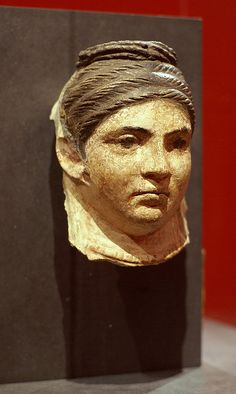 Mummy mask of a deceased woman, Roman Egypt, 2nd century A.C.
