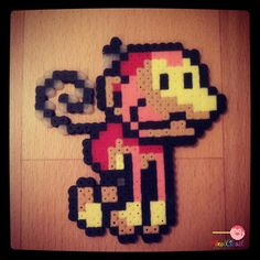 Grinders Perler Figurine from Yoshi Island by PixelCloset on Etsy